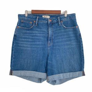 Madewell Denim Cutoff Shorts High Rise Curvy 32